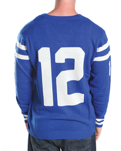 Indianapolis  #12 Unisex Knit Sports Jersey Sweater
