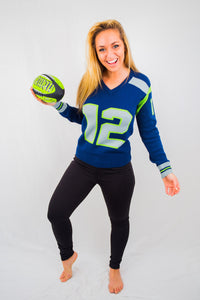 Seattle  #12 Women's Knit  Jersey Sweater