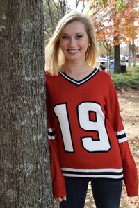 Chicago  #19 Women's Knit Hockey Jersey Sweater