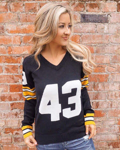 Pittsburg  #43 Women's Knit  Jersey Sweater