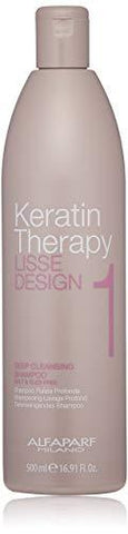 An efficacious therapeutic keratin shampoo Helps deeply cleanse hair while banishing tangles Opens hair cuticles to prepare hair for smoothing treatment Contains Kera-Collagen. Alfaparf keratin theraphy lisse design cleansing shampoo nourishing, protecting and detangling your hair .