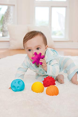 Infantino Textured Multi Ball Set - Textured ball set toy for sensory exploration and engagement, ages 6 months and up