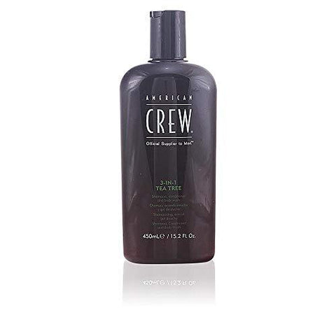 American Crew 3-in-1 Tea Tree Shampoo, Conditioner & Body Wash - 450ml - Stabeto