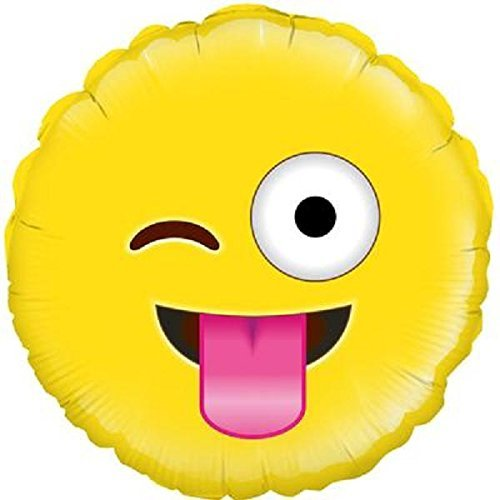 "18"" Crazy Emoji Design Foil Party Balloon"