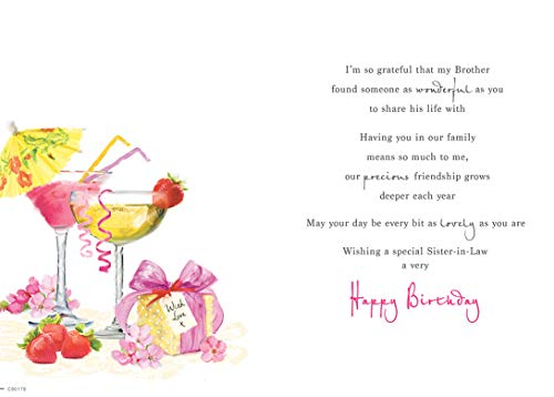 Birthday Card Sister in Law - 9 x 6 inches - Regal Publishing, C80179