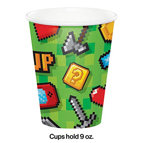 Creative Party PC336038 Video Party Game Items Paper Cups-8 Pcs, Multicolor