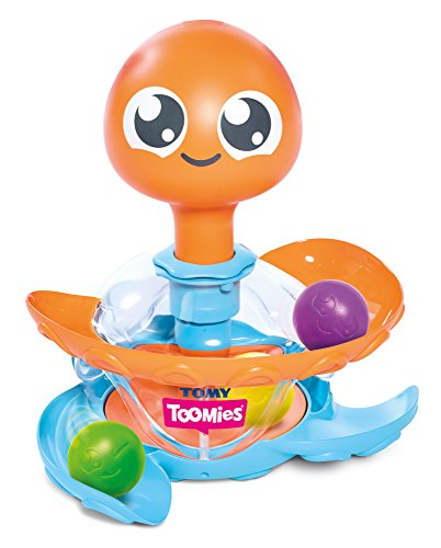 TOMY Toomies Octopus Ball Toy, Spinning Ball Popper Push Toy, Baby Interactive Pop and Play Sorting Toy, Preschool Toys Suitable for Babies Boys and Girls from 1, 2 & 3 Years