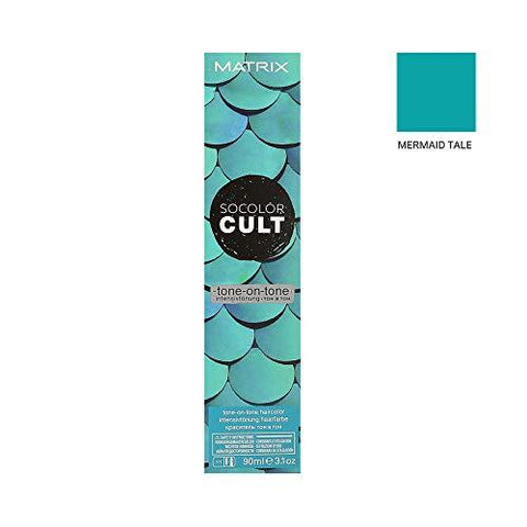 Matrix SoColor Cult Demi-Permanent Hair Colour, Mermaid Teal, 90 ml - Stabeto