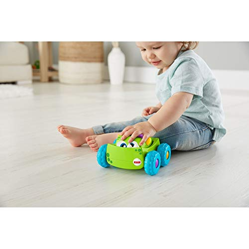 Fisher-Price DRG15 Press-N-Go Monster Truck Green, Push and Go Crawling Toy, Suitable for 1 Year Old