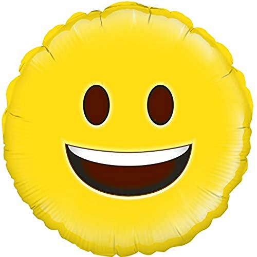 "18"" Happy Emoji Smiley Face Design Foil Party Balloon"
