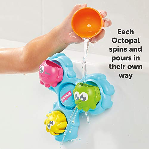 TOMY Games E72820C Spin & Splash Toomies Octopus Bath Toy for Water Play Suitable for 1, 2, 3 & 4 Year Olds Girls & Boys, Multicoloured