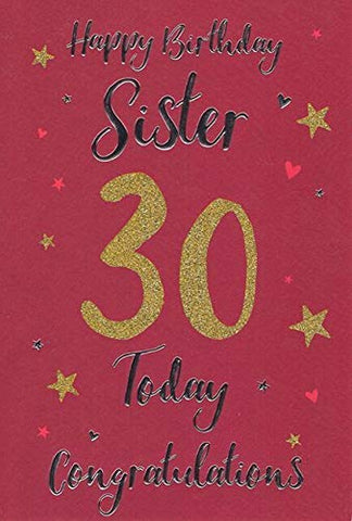 Sister 30th Birthday, Birthday Card