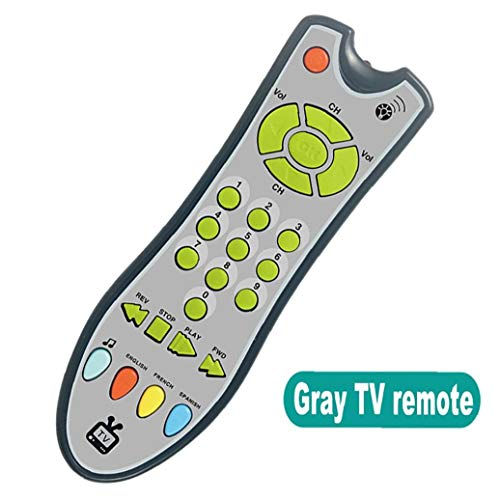 1pc Baby Remote Control Toy Tv Remote Control Infants Sound Musical Learning Toy Early Educational Toy for 1-3 Year Old Baby Boys and Girls(Grey) Toy Game