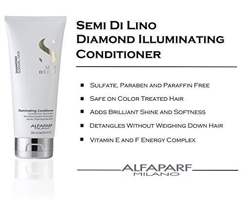 ALFAPARF SEMI DI LINO DIAMOND Normal Hair Illuminating low SULFATE-FREE CONDITIONER 200ml - Stabeto