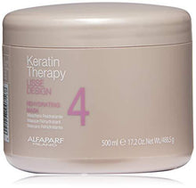 Load image into Gallery viewer, AlfaParf Lisse Design Keratin Therapy Rehydrating Mask 500m Come in Salon Size, this mask is therapeutic, keratin-rich re-hydrating mask Helps preserve & prolong the effects. - AlfaParf Lisse Design Keratin Therapy Rehydrating Mask 500m Come in Salon Size, this mask is therapeutic, keratin-rich re-hydrating mask Helps preserve & prolong the effects.- Stabeto