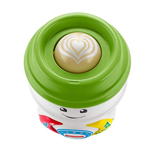 Fisher-Price GHJ04 Laugh & Learn On-The-Glow Coffee Cup, Interactive Baby Toy, Multicolour