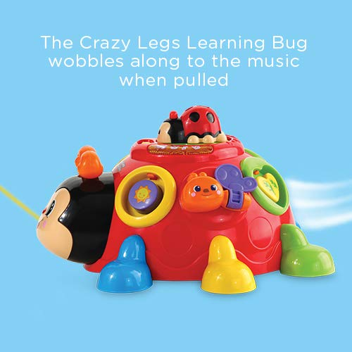VTech Crazy Legs Learning Bug, Educational Toys with Learning Games, Shape Sorter Toy with Music, Baby Interactive Toy Suitable for Boys and Girls 12 Months & Over