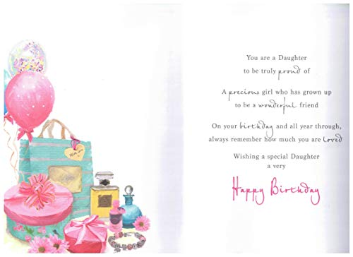 Birthday Card Daughter - 9 x 6 inches - Regal Publishing