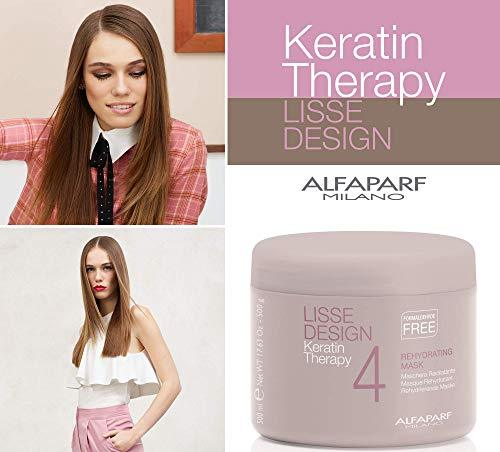 AlfaParf Lisse Design Keratin Therapy Rehydrating Mask (Salon Size) 500ml - Stabeto