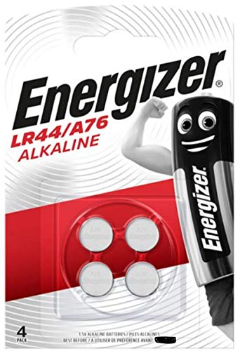 Energizer LR44/A76 Alkaline Batteries, 1.5V, Pack of 4
