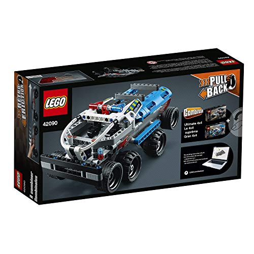 LEGO 42090 Technic Getaway Truck with Pull-Back Motor, Monster Truck Model, Building Set for 7+ Years Old Boys and Girls