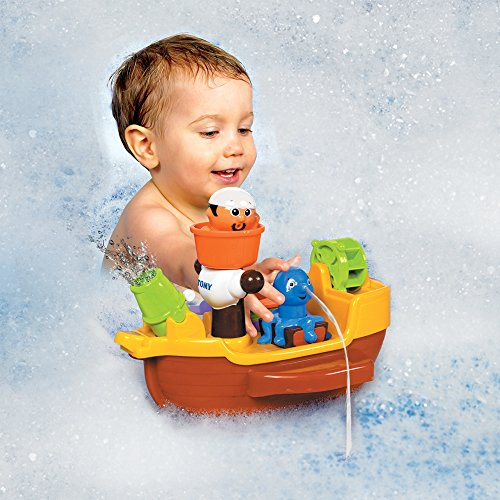TOMY Toomies Pirate Bath Baby Bath Toy, Shower Baby Toy for Water Play in the Bath, Kids Bath Toy Suitable for Toddlers & Children, Boys & Girls from 18 Months+