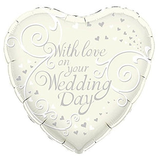 OakTree Cream With Love on Your Wedding Day Balloon, 18""
