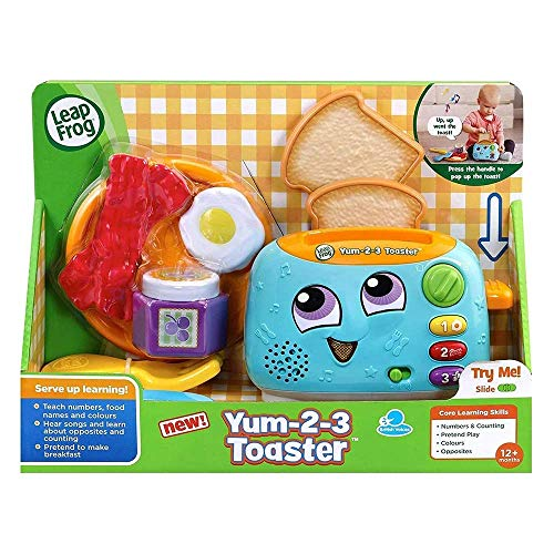 LeapFrog Yum-2-3 Toaster, Learning Toy with Sounds and Colours for Sensory Play, Educational Toys for Kids, Preschool Toys, Activity Learning Games for Boys and Girls Aged 1, 2 & 3 Years