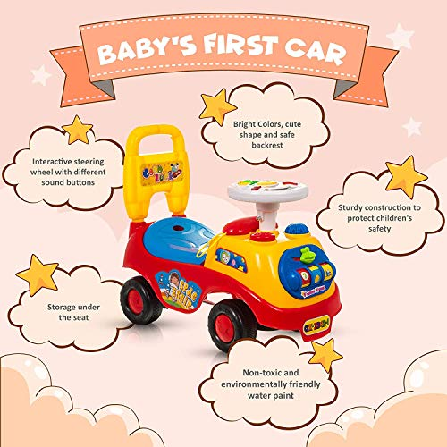 Little Bambino Friends Time MY FIRST RIDE ON KIDS TOY CARS BOYS GIRLS PUSH ALONG TODDLERS INFANTS CHILDREN