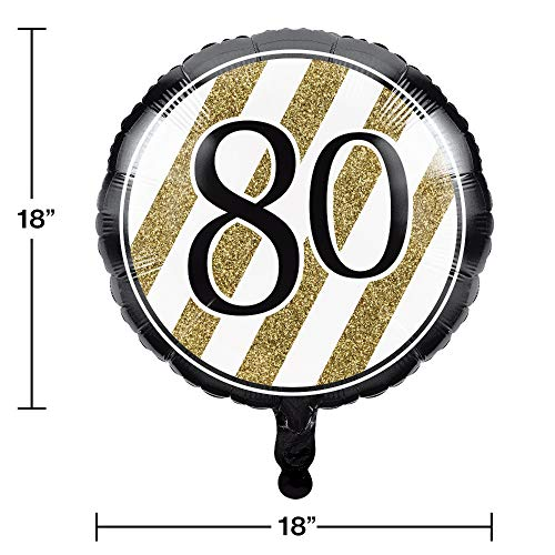 Black and Gold Foil Balloon '80'