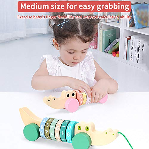 Arkmiido Pull Along Toy with Digital Shaft,baby toy for 1 year old, Educational toy for baby and Infant Push Toy, First walk toy, Birthday Gift.