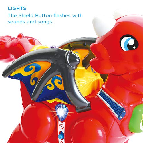 VTech Toot-Toot Friends Daring Dragon Interactive Baby Musical Toy, Dragon Toddler Toy with Music & Sound Effects, Includes Role Play Mode, Suitable for Boys & Girls 1, 2, 3, 4+ Year Olds