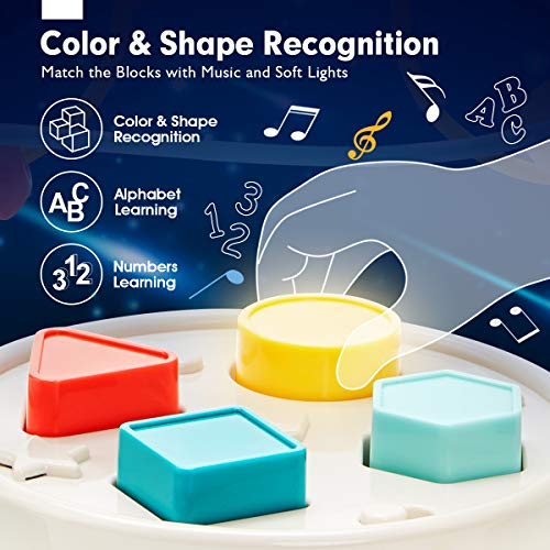 CubicFun Bead Maze Cars Baby Toys 12 Months Shape Sorting & Plugging Music Light Toys For 1 Year Old Boys Girls Early Development & Activity Toys Kids Age 2 3 4 5