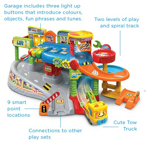 VTech Toot-Toot Drivers Garage, Kids Toy Garage with Music, Fun Phrases and Sounds, Baby Musical Car Track Toy for Boys and Girls 1, 2, 3, 4 and 5 Year Olds (Standard Packaging)