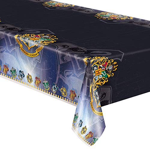 Unique Party 59103 - Harry Potter Plastic Tablecloth, 7ft x 4.5ft