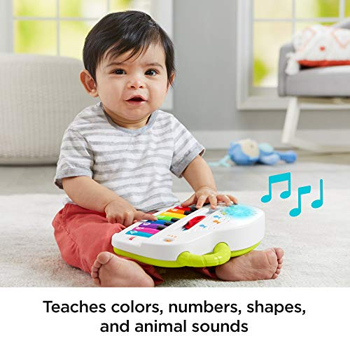 Fisher-Price GFK04 Laugh and Learn Silly Sounds Light-Up Piano, Infant Toy, Multicolour