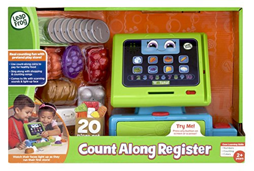 Leapfrog Count Along Till Educational Interactive Toy Shop With 20-Piece Pretend Play Set, Teaches Numbers, Counting And Colours, Toy For 2 3 4 Years Girls & Boys