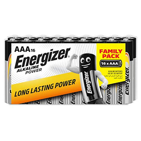 Energizer Alkaline Power AAA Batteries - Pack of 16