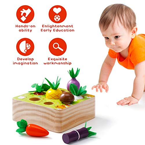 Babyhelen Baby Blocks Soft Building Blocks for 6 12 months Toddlers Babies 3 Year Old - Baby Teether Sensory Toys Stacking Toys Bath toys - Montessori Sensory Stacking Toys (Cute Carrots)