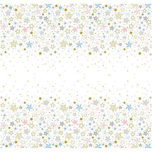 Unique Party 72413 - Twinkle Twinkle Little Star Plastic Tablecloth, 7ft x 4.5ft