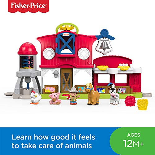 Fisher-Price FKD78 Little People Caring for Animals Farm Activity, Toddler Role Play farm Set Toy with Songs and Sounds, Suitable for 1 Year Old