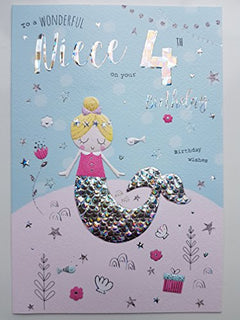 Special Niece 4th Birthday Card Age Four 8581