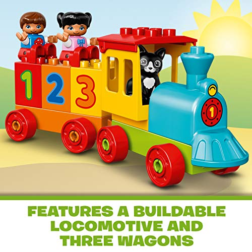 LEGO 10847 DUPLO My First Number Train Toy, Award-Winning Building Set with Large Number Bricks, Preschool Education Toy for Toddlers 1.5 Years Old