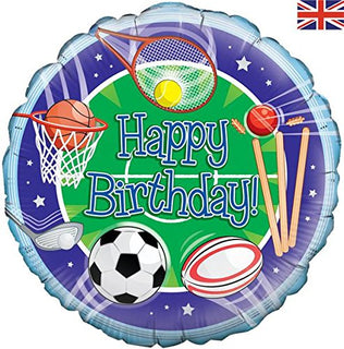 "Oaktree Happy Birthday Sports 18"" Foil Party Balloon"