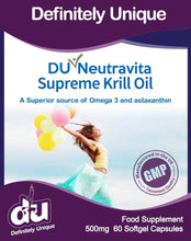 Load image into Gallery viewer, DU Neutravita Supreme Krill Oil Extract 500mg - Stabeto