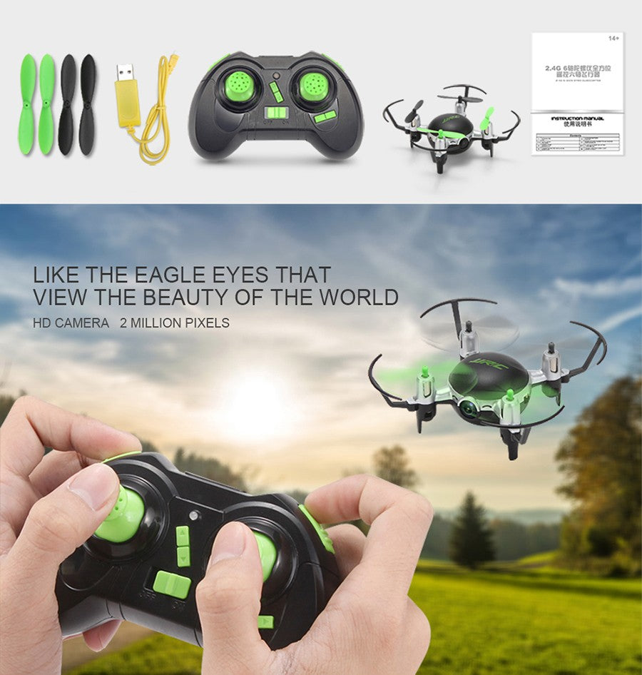 Mini RC Drone JJRC H30CH 2.4GHz 4CH 6 Axis Gyro Quadcopter Headless Mode Drone Flying Helicopter with 2.0MP HD Camera