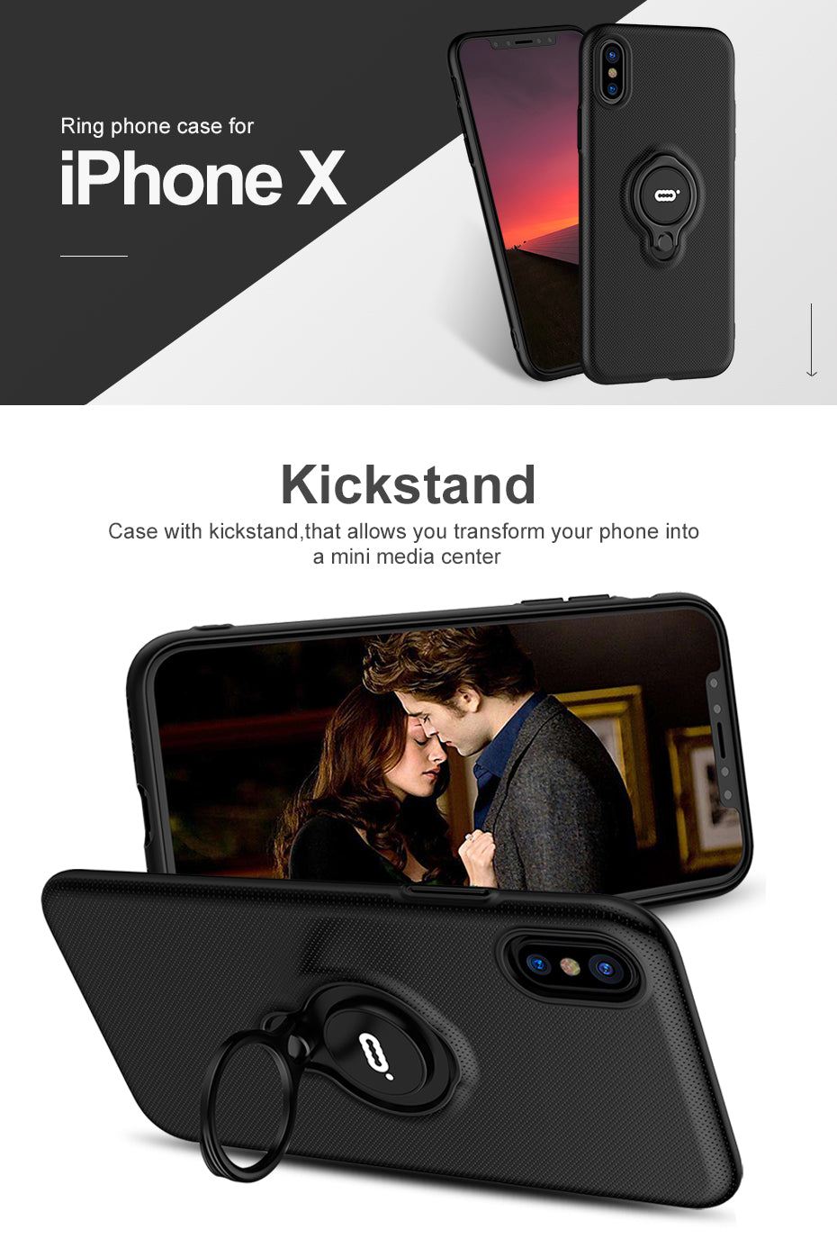 ICONFLANG Hybrid Case For Apple iPhone X Car Magnetic Shockproof Cover For iPhoneX Phone Cases