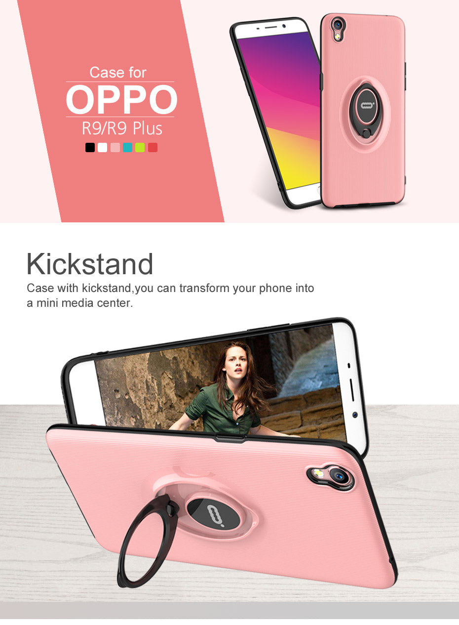 ICONFLANG Case For oppo R9 plus cases Slim Back Protect Skin Ultra Thin anti shock Phone Cover for oppo R9