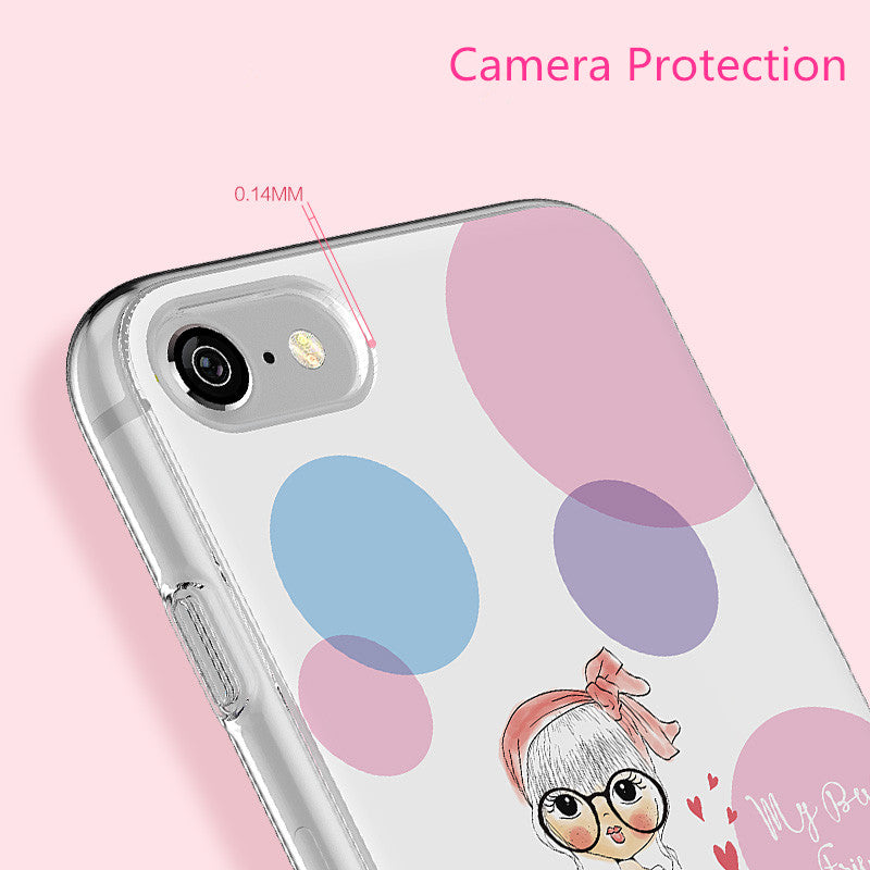 ICONFLANG Phone Back Shell For iPhone 7 Case Printing Painted Phone Capa For iPhone 7 Plus Coque fundas capa luxury accessories