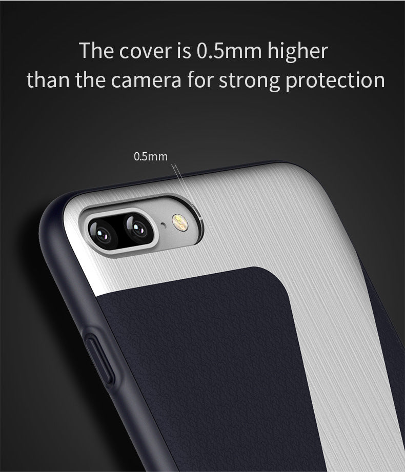 Back Shell For iPhone 7 Case ICONFLANG Air Permeable & Durable Cases Classical PU Good Hand Feeling For iPhone 7 Plus Cover Case